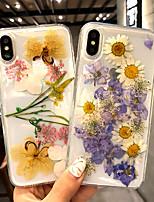 Недорогие -чехол для яблока iphone xs / iphone xs max прозрачная задняя крышка с цветком жесткий акрил для iphone 7 / iphone 7 plus / iphone 8 / iphone 8 plus / iphone x / iphone xr / iphone xs / iphone xs max