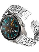 cheap -22mm Denim Stainless Steel Band Strap for HuaWei Watch GT Smart Watch Metal Replacement Bracelet Belt Watch Band
