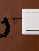 cheap -Basketball Wall Stickers Plane Wall Stickers Light Switch Stickers 11x12.2cm