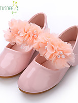 cheap -Girls' Flats Comfort / Flower Girl Shoes Patent Leather Floral Little Kids(4-7ys) / Big Kids(7years +) Pearl / Flower White / Dusty Rose Spring / Fall / Party & Evening