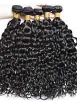 Недорогие -6 Связок Бразильские волосы Волнистые Не подвергавшиеся окрашиванию Человека ткет Волосы Пучок волос One Pack Solution 8-28 дюймовый Естественный цвет Ткет человеческих волос / Без запаха