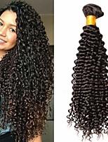 Недорогие -6 Связок Бразильские волосы Kinky Curly человеческие волосы Remy Человека ткет Волосы Пучок волос One Pack Solution 8-28 дюймовый Естественный цвет Ткет человеческих волос