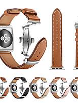 Недорогие -Ремешок для часов для Серия Apple Watch 5/4/3/2/1 Apple Кожаный ремешок / Бабочка Пряжка Нержавеющая сталь / Натуральная кожа Повязка на запястье