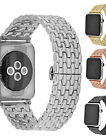 Недорогие -Ремешок для часов для Apple Watch Series 4/3/2/1 Apple Бабочка Пряжка Металл / Нержавеющая сталь Повязка на запястье