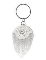 cheap -Women's Crystals / Tassel Polyester / Alloy Evening Bag Geometric Pattern Gold / Silver / Black