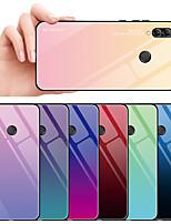 Недорогие -Кейс для Назначение Huawei Huawei Honor 10 / Honor 10 Lite / Честь 10i Защита от удара Кейс на заднюю панель Градиент цвета Твердый Закаленное стекло