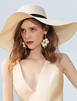 cheap -Polyester Straw Hats with Lace-up 1pc Casual / Daily Wear Headpiece