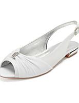 cheap -Women's Wedding Shoes Flat Heel Peep Toe Classic Sweet Wedding Party & Evening Gleit Rhinestone Sequin Black Champagne Ivory