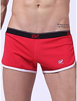 cheap -Men's Basic Boxers Underwear - Normal Low Waist Light Blue White Black S M L
