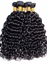Недорогие -6 Связок Бразильские волосы Волнистые Необработанные натуральные волосы Человека ткет Волосы Пучок волос One Pack Solution 8-28 дюймовый Естественный цвет Ткет человеческих волос / Без запаха