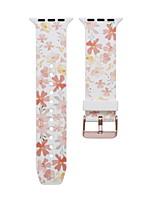 Недорогие -цветок smartwatch группа для apple watch серии 4/3/2/1 силикагель классический пряжка ремешок iwatch