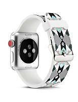 Недорогие -Геометрический браслет SmartWatch для Apple Watch серии 4/3/2/1 силиконовый классический ремешок с пряжкой iwatch
