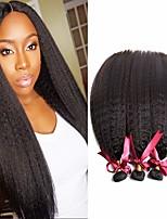 Недорогие -6 Связок Бразильские волосы Естественные прямые 100% Remy Hair Weave Bundles Человека ткет Волосы Пучок волос One Pack Solution 8-28 дюймовый Естественный цвет Ткет человеческих волос / Без запаха
