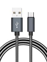 Недорогие -Micro USB Адаптер / Кабель 1.0m (3FT) Выдвижной / Быстрая зарядка Нержавеющая сталь Адаптер USB-кабеля Назначение Samsung / Huawei / LG