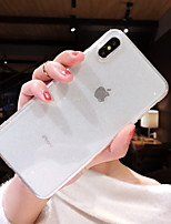 Недорогие -Кейс для Назначение Apple iPhone XS / iPhone XR / iPhone XS Max Прозрачный / Сияние и блеск Кейс на заднюю панель Прозрачный / Сияние и блеск Мягкий силикагель