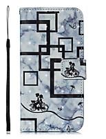 Недорогие -Кейс для Назначение Huawei Huawei P20 / Huawei P20 Pro / Huawei P20 lite Кошелек / Бумажник для карт / Флип Чехол Животное / Мультипликация / Цветы Твердый Кожа PU