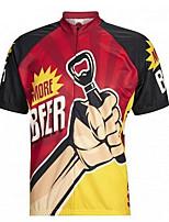 Недорогие -21Grams Ретро Пиво Октоберфест Муж. С короткими рукавами Велокофты - Красный / желтый Велоспорт Джерси Верхняя часть Дышащий Влагоотводящие Быстровысыхающий Виды спорта Терилен Горные велосипеды