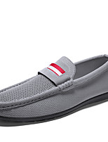 cheap -Men's Spring / Summer Casual / British Daily Loafers & Slip-Ons Tissage Volant Breathable Non-slipping Black / Gray Color Block