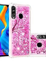 Недорогие -Кейс для Назначение Huawei Huawei P20 / Huawei P20 Pro / Huawei P20 lite Защита от удара / Движущаяся жидкость / Прозрачный Кейс на заднюю панель Сияние и блеск / Цветы Мягкий ТПУ / P10 Lite