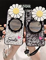 Недорогие -чехол для яблока iphone xr / iphone xs max шаблон / зеркальная задняя крышка цветок жесткий тпу для iphone x xs 8 8plus 7 7plus 6 6plus 6s 6s plus
