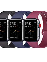 Недорогие -Совместимый яблочный ремешок для часов 38мм 40мм 42мм 44мм женщины мужчины мягкие силиконовые сменные полосы ремешок для iwatch яблочные часы серии 4 серии 3 серии 2 серии 1