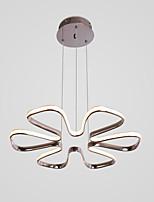 Недорогие -Хромированная люстра с 6 лепестками в форме цветка для гостиной / столовой
