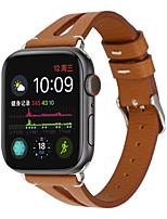 Недорогие -для яблока ремешок для часов 40мм / 44мм / 38мм / 42мм v-образный кожаный ремешок наручные часы для iwatch серии 4/3 2/1 ремешки
