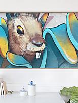 Недорогие -Отпечаток в раме Холст в раме С принтом - Животные Полистирен Масляные картины Предметы искусства