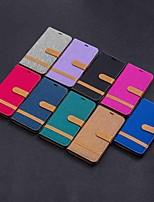 Недорогие -Кейс для Назначение Xiaomi Redmi Note 5A / Xiaomi Redmi Note 6 / Xiaomi Pocophone F1 Кошелек / Бумажник для карт / со стендом Чехол Плитка Твердый текстильный