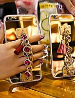 Недорогие -чехол для яблока iphone 8 / iphone x зеркало задняя крышка сплошной мягкий акрил для iphone 6 / iphone 6 plus / iphone 6s для iphone 6 / iphone 6 plus / iphone 6s 7 8plus xs xr xsmax