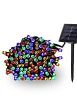 Недорогие -12м Гирлянды 100 светодиоды EL 1 монтажный кронштейн Разные цвета Водонепроницаемый / Работает от солнечной энергии / Декоративная 4 V 1 комплект