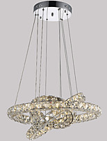 Недорогие -3 кольца светодиодные хрустальные люстры подвесные светильники Colgante лампы блеск подвесные светильники lamparas современные потолочные светильники подвесные светильники abajur светильник 110-120 В
