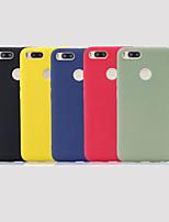 Недорогие -Кейс для Назначение Xiaomi Xiaomi Redmi Note 6 / Xiaomi Redmi 6 Pro / Redmi 6A Матовое Кейс на заднюю панель Однотонный Мягкий ТПУ