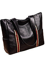 cheap -Women's Polyester / PU Top Handle Bag Solid Color Black