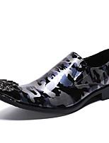 Недорогие -Муж. Обувь для новинок Наппа Leather Весна / Наступила зима На каждый день / Английский Мокасины и Свитер Нескользкий Зеленый / Синий / Для вечеринки / ужина / Для вечеринки / ужина / Печать Оксфорд