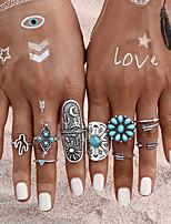 Недорогие -Жен. Цирконий Ring Set европейский Модные кольца Бижутерия Синий Назначение Свадьба 9pcs