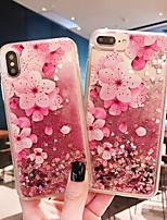 Недорогие -Кейс для Назначение Apple iPhone XS / iPhone XR / iPhone XS Max Движущаяся жидкость / С узором Кейс на заднюю панель Цветы Мягкий ТПУ