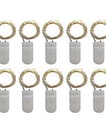 Недорогие -Loende 10 шт. светодиодные фонари cr2032 кнопки с батарейным питанием 1 м 10 светодиодный свет шнура гирлянды Рождество свадьба рождественские украшения