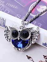 Недорогие -Жен. Цепочка Хром Синий 54 cm Ожерелье Бижутерия 1шт Назначение фестиваль