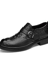 Недорогие -Муж. Кожаные ботинки Наппа Leather Весна лето / Наступила зима На каждый день / Английский Мокасины и Свитер Для прогулок Нескользкий Черный / Для вечеринки / ужина