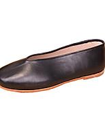 Недорогие -Муж. Комфортная обувь Наппа Leather Лето Винтаж Мокасины и Свитер Дышащий Черный