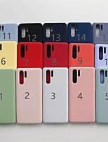 Недорогие -Кейс для Назначение Huawei Huawei Nova 4 / Huawei Mate 20 lite / Huawei Mate 20 pro Матовое Кейс на заднюю панель Однотонный Мягкий ТПУ