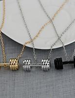 Недорогие -Муж. Ожерелья с подвесками Хром Золотой Черный Серебряный 50 cm Ожерелье Бижутерия 1шт Назначение Повседневные