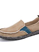 Недорогие -Муж. Комфортная обувь Полотно Весна лето На каждый день Мокасины и Свитер Дышащий Серый / Синий / Миндальный