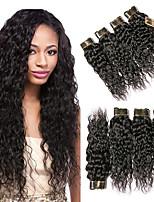 Недорогие -6 Связок Бразильские волосы Волнистые 100% Remy Hair Weave Bundles Человека ткет Волосы Пучок волос One Pack Solution 8-28 дюймовый Естественный цвет Ткет человеческих волос