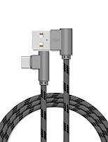 Недорогие -Type-C Кабель 1.0m (3FT) Быстрая зарядка Нейлон Адаптер USB-кабеля Назначение Huawei