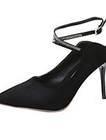 Недорогие -Жен. Обувь на каблуках На шпильке Замша Лето Черный / Красный / Тёмно-синий
