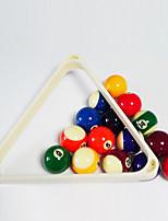 cheap -Billiard Ball Racks Resin Pool triangle White Professional