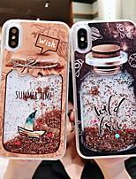 Недорогие -Кейс для Назначение Apple iPhone XS / iPhone XR / iPhone XS Max Движущаяся жидкость / С узором / Сияние и блеск Кейс на заднюю панель Геометрический рисунок / Сияние и блеск Твердый ПК