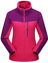 cheap -Men's Hiking Fleece Jacket Winter Outdoor Patchwork Thermal Warm Windproof Breathable Warm Winter Jacket Hunting Climbing Camping / Hiking / Caving Purple / Yellow / Red / Fuchsia